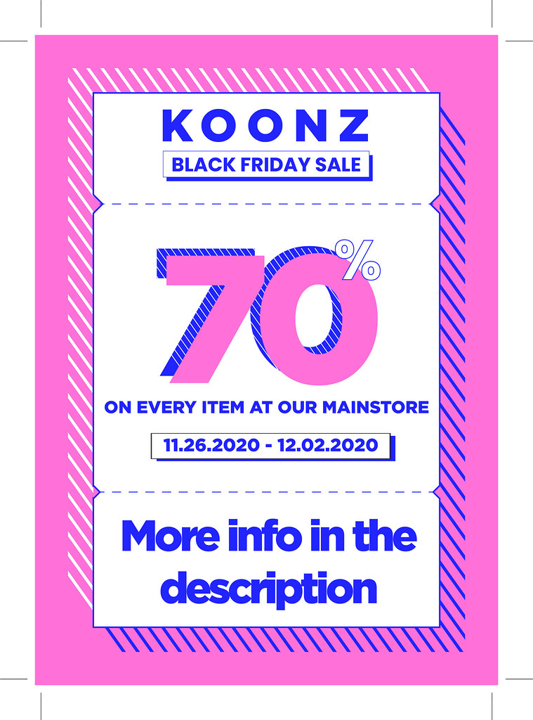 BLACK FRIDAY @ Koonz