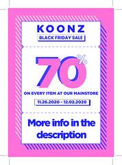 BLACK FRIDAY @ Koonz