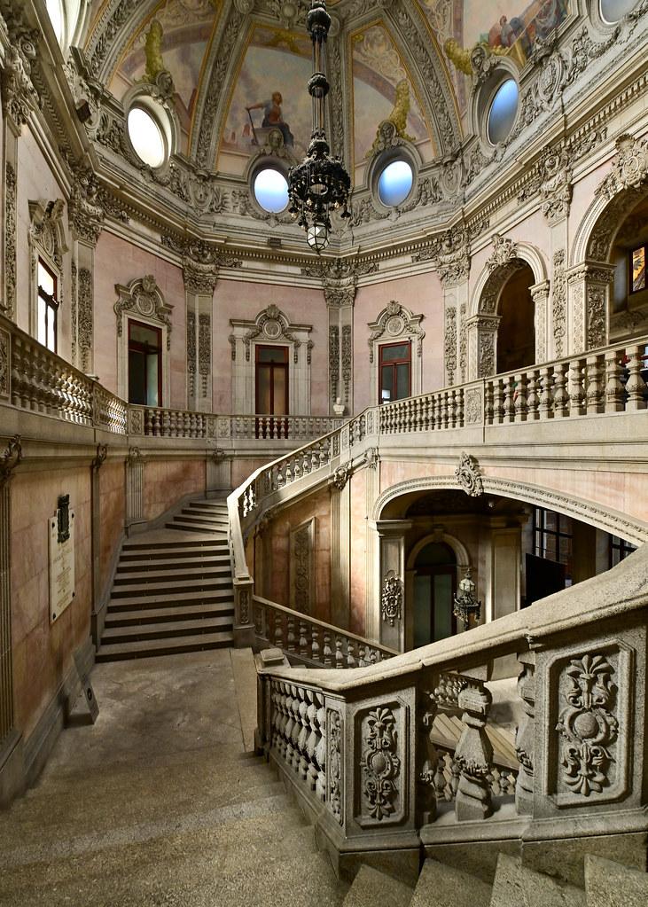 Interior del Palacio de la Bolsa de Oporto