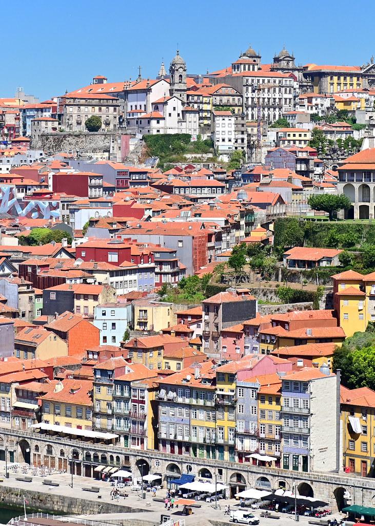 Vistas desde la estación del teleférico de Oporto