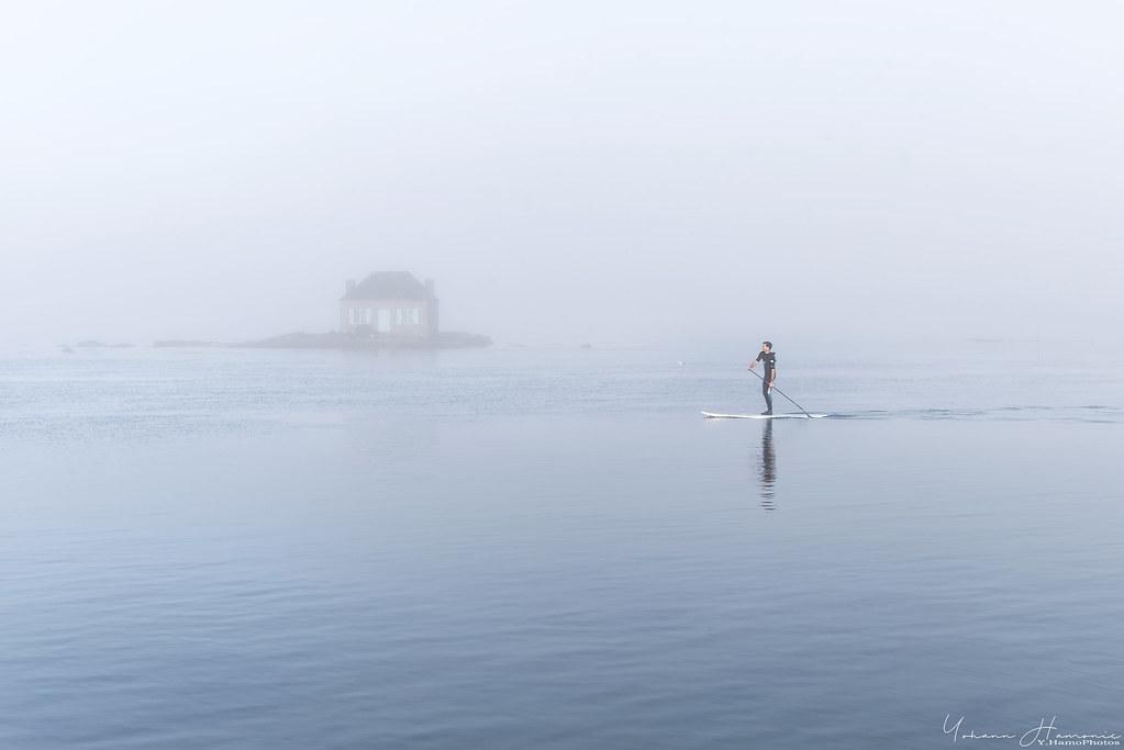 Saint-Cado dans le brouillard