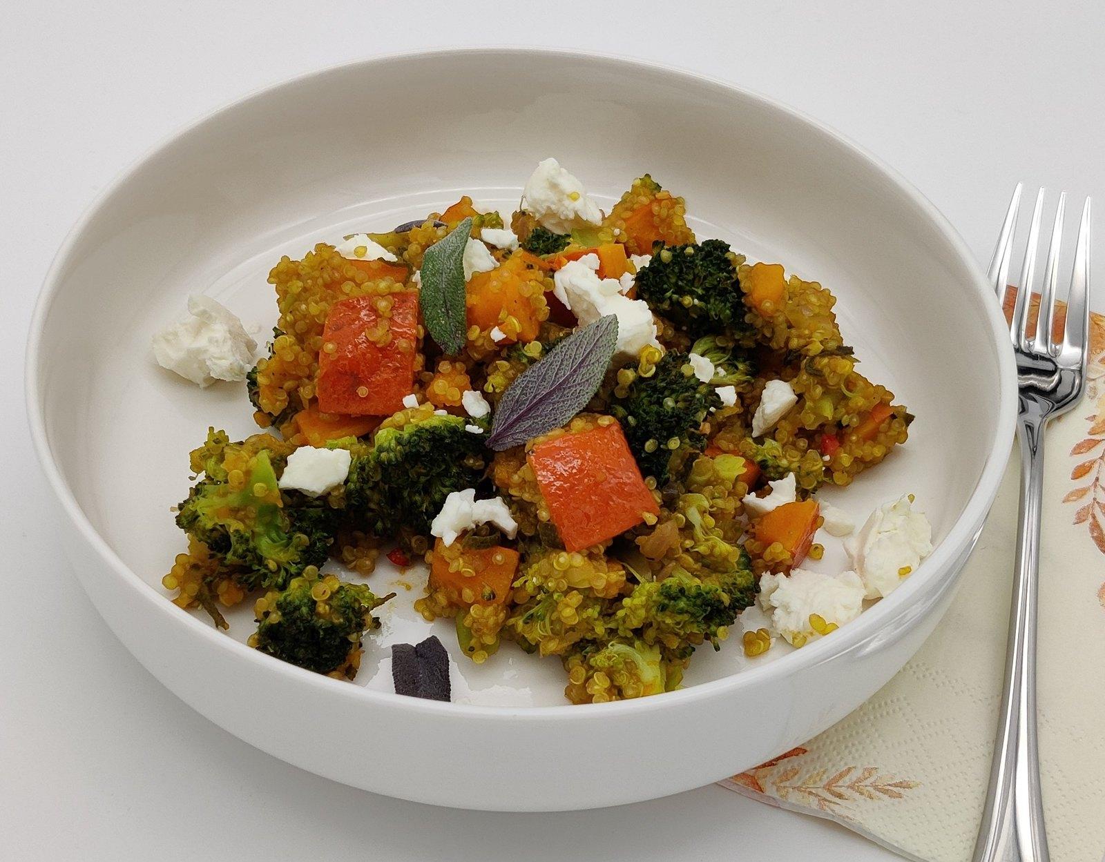 Kürbis-Brokkoli-Quinoa