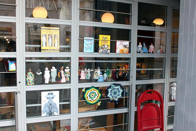 Toy Shop Window with Dolls