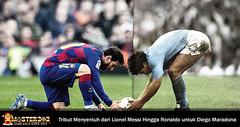 Ucapan Duka Messi Hingga Ronaldo Atas Kepergian Maradona