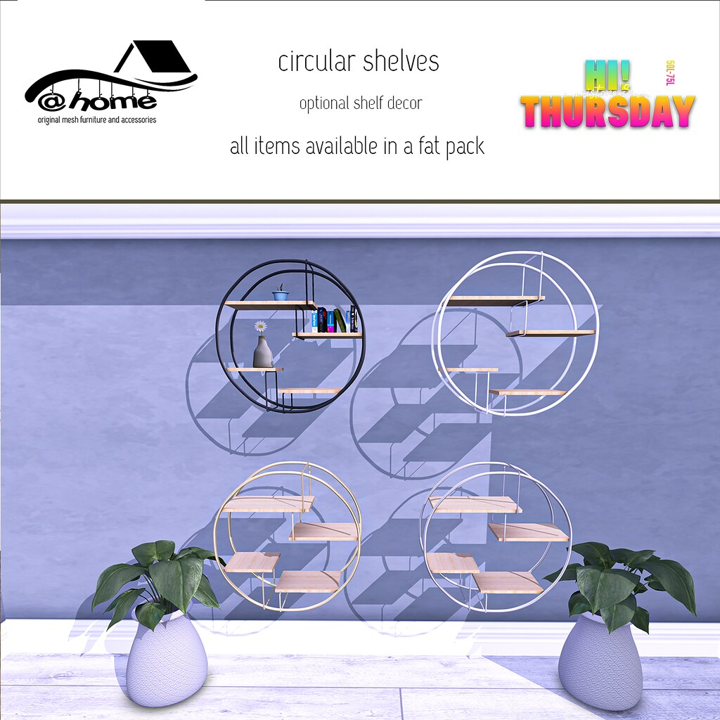 @home Hi Thursday - circular shelves AD