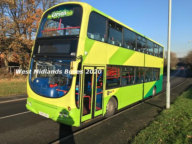 Greenbus 402 SN55 BNX Aldridge 26/11/20