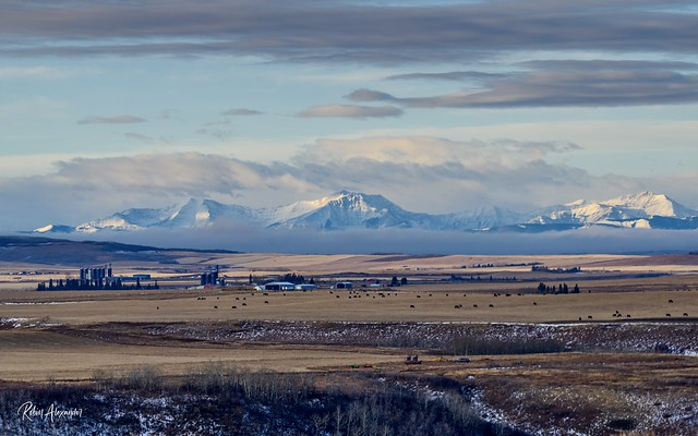 The view SW of Okotoks, Alberta this morning (Explored)