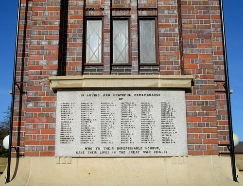 Great War Names, Coalville  War Memorial 2