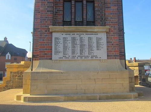 War Memorial, Coalville, Great War Names