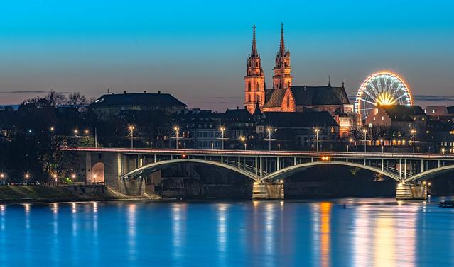 Basel Minster Blue hour