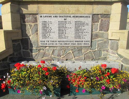 Coalville War Memorial, Second World War Names