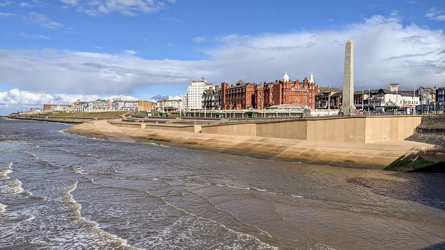 Looking towards Blackpool from the sea