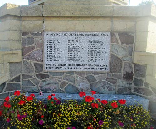 War Memorial, Coalville, World War 2 Names