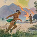"Art by N. C. Wyeth for ""The Deerslayer"" by James Fenimore Cooper.  New York:  Charles Scribner's Sons, 1929"