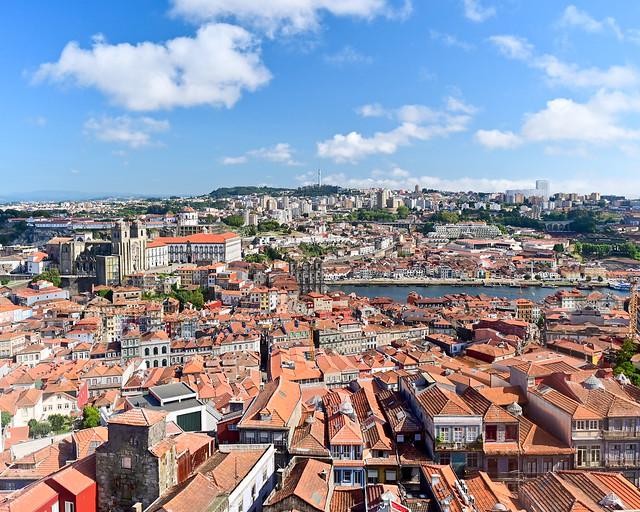 Vistas 360 desde la Torre de los Clérigos de Oporto