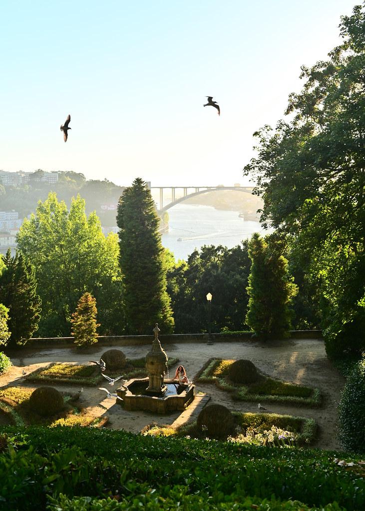 Jardines del Palacio de Cristal de Oporto