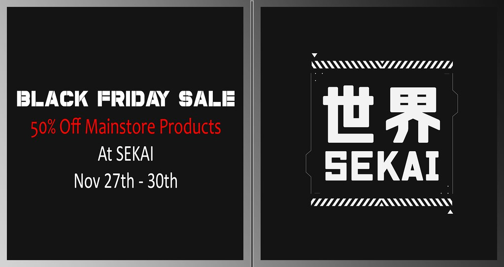 SEKAI – Black Friday Sale – 50% Off Mainstore Products