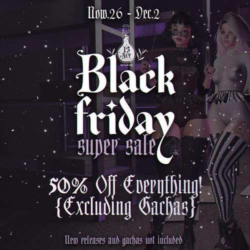 Black Friday 13ACT
