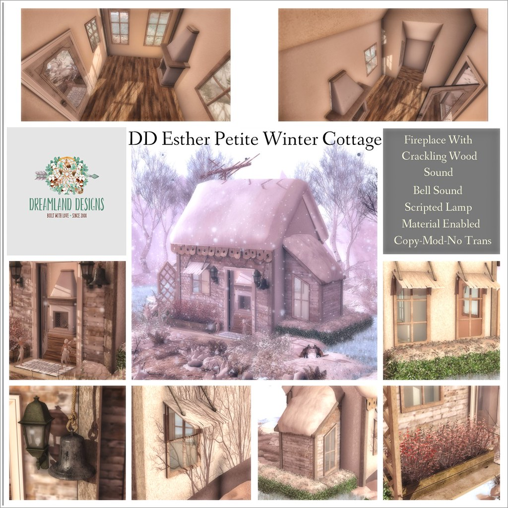 DD Esther Petite Winter Cottage Collage AD