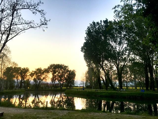 Sunset on the lake #Caldogno