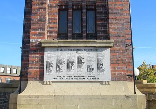 Coalville War Memorial, Great War Names