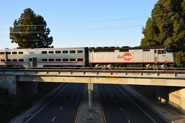 Caltrain Locomotive 912,
