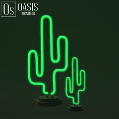 Oasis: Neon Cactus Sculpture