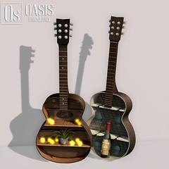 Oasis: Acoustic Guitar Shelf