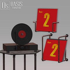 Oasis: Vinyl Record Player & Vinyl Collection Holder