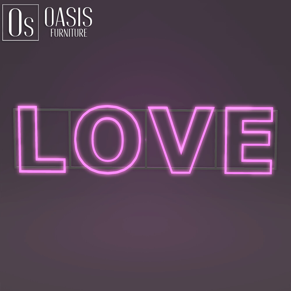 "Oasis: ""LOVE"" Neon Sign (GIFT)"
