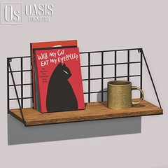 Oasis: Wire Mounted Wall Shelf