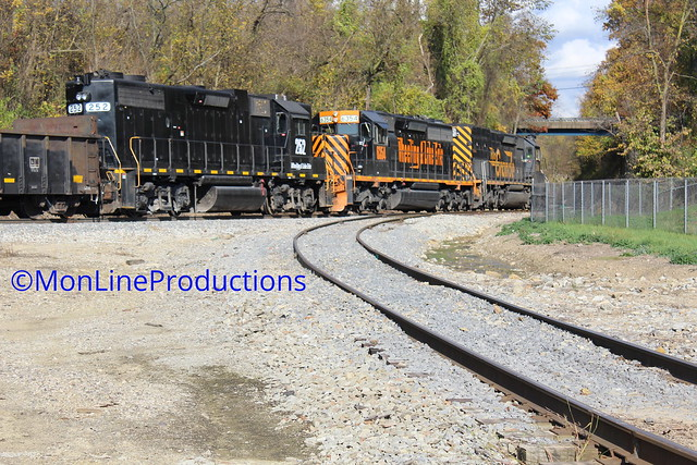 Wheeling & Lake Erie (WLE) train 618 at Belle Veron,PA on October 23,2020