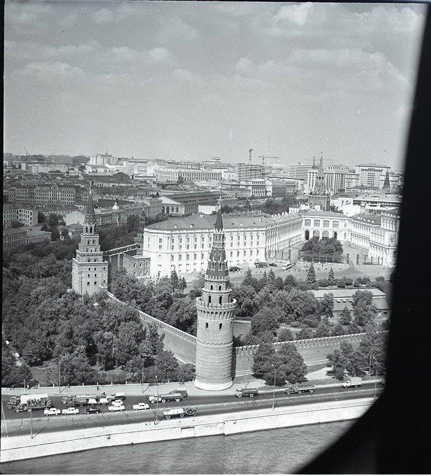 1950-е. Кремль с высоты птичьего полета
