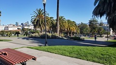 Cold day at Dolores Park - Turkey Day SF Tour 2020