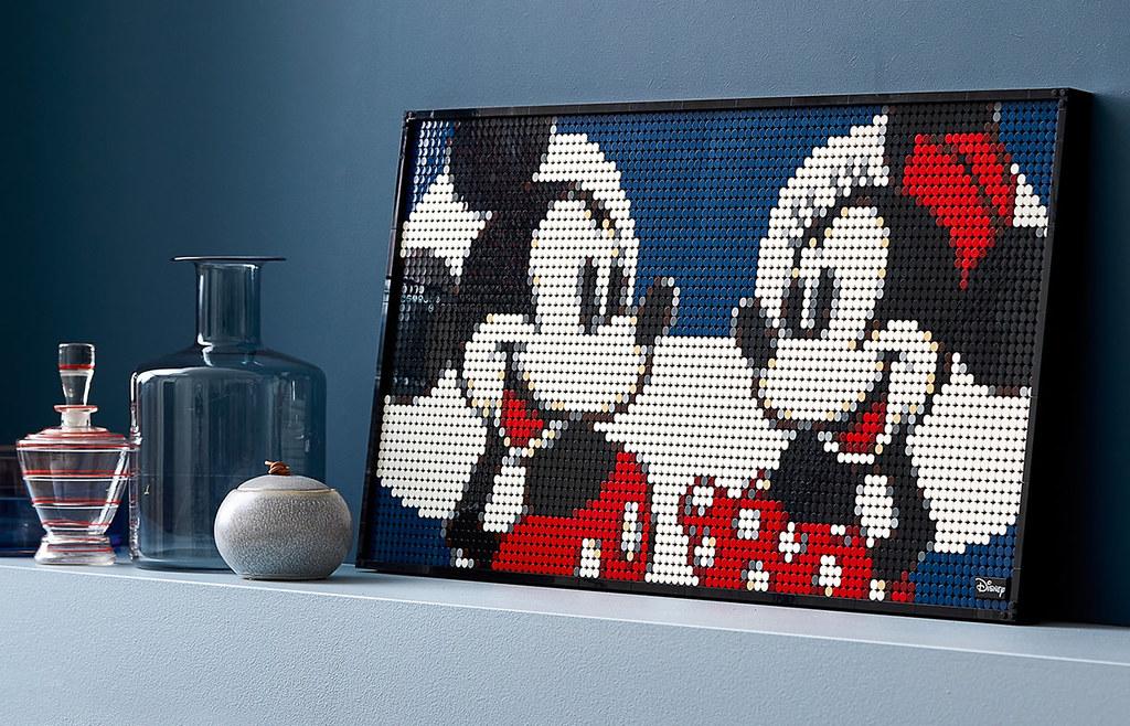 LEGO 31202《迪士尼》米奇(Mickey Mouse)把米奇米妮一起掛上牆展示吧!