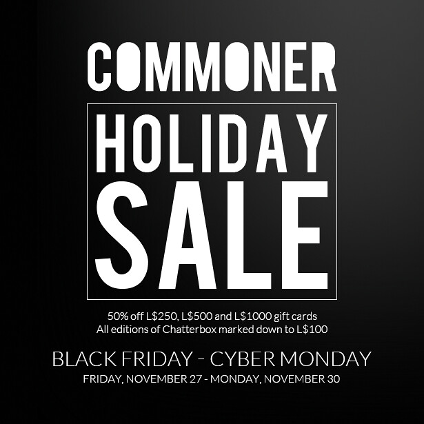 Commoner Holiday Sale