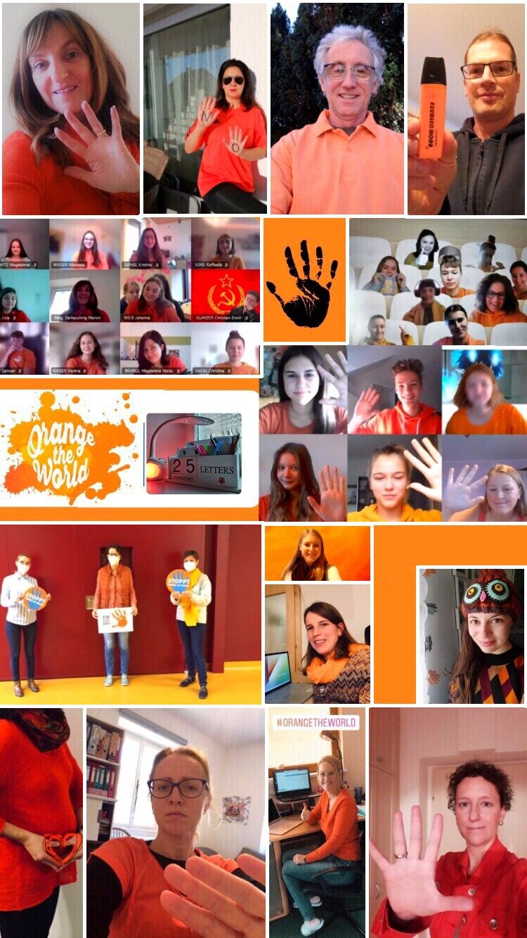 Collage ORANGE THE WORLD