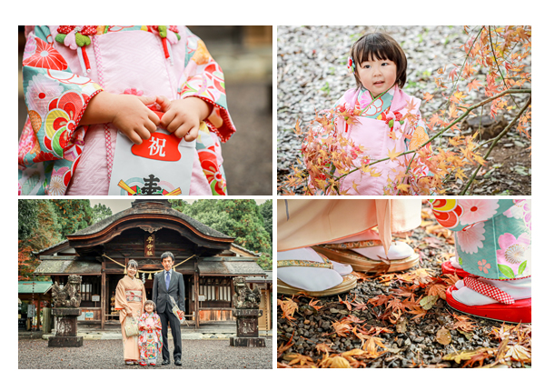 岐阜県可児市の子守神社で七五三 モミジの季節(2020年11月)