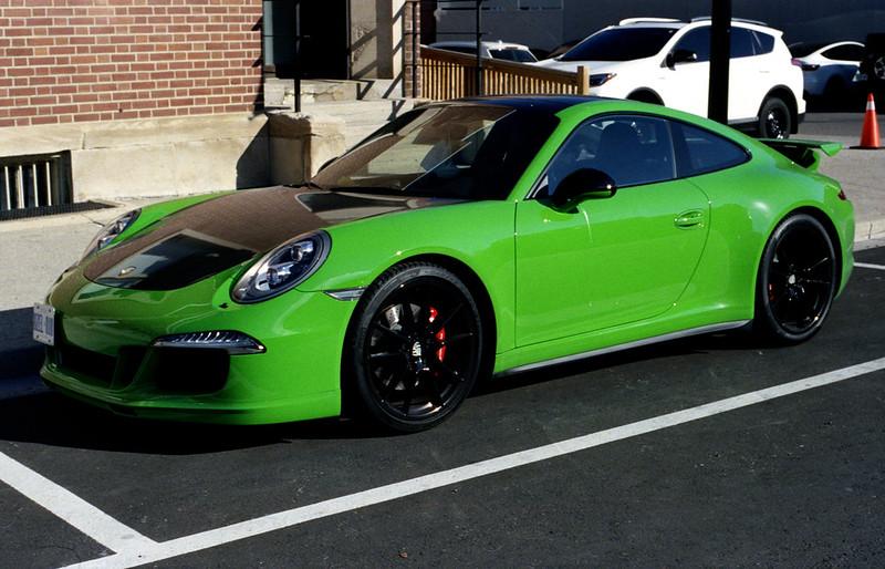 Green Porsche 911 Two