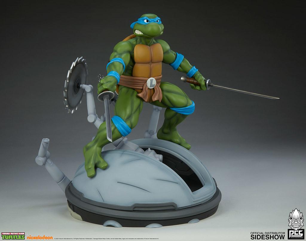 PCS《忍者龜》李奧納多 1/4比例全身雕像 普通版/EX版