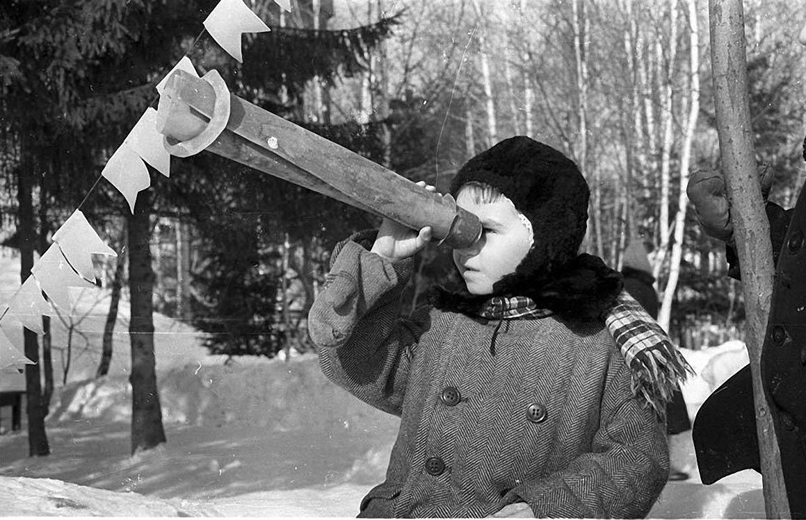 1950-е. Детский сад на прогулке