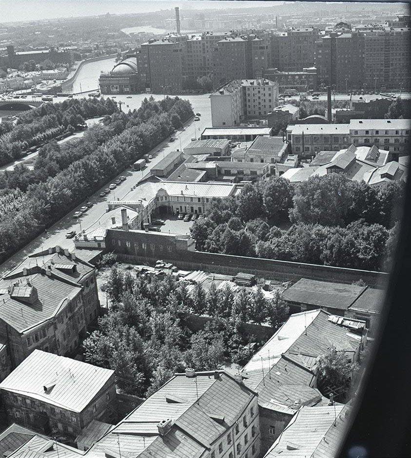 1950-е. Болотная площадь с высоты птичьего полета