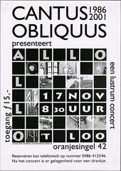 2001 Cantus Obliquus lustrumconcert