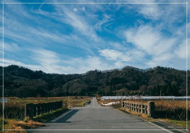 road & sky. / Karuizawa, Nagano, Japan.