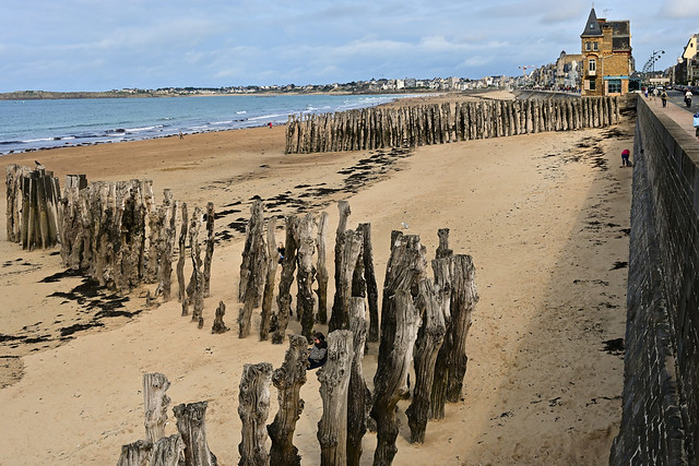 Saint-Malo / Plage du Sillon / Digue de Rochebonne