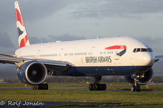 G-STBJ Boeing 777-300ER British Airways Glasgow Airport EGPF 22.11-20