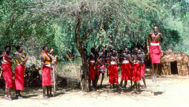 THE DANCE OF THE SAMBURU TRIBE