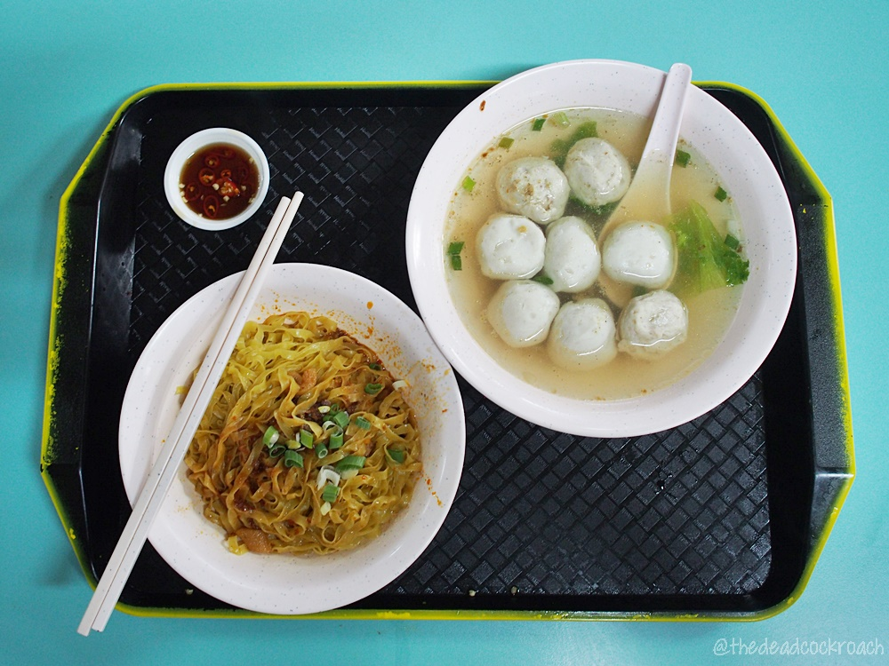 hong xing handmade fish ball noodle,fish ball noodle,singapore,hong lim food centre,fish ball,food review,review,mee pok,鴻興手工魚圓 . 肉圓麵,food,hong lim,hong lim market & food centre,