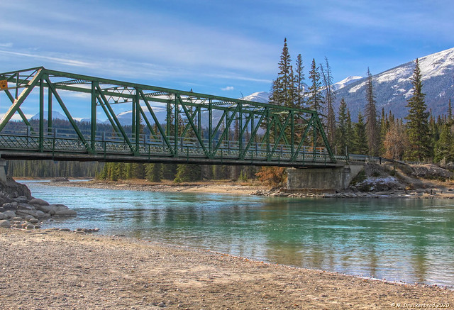 The Old Iron Bridge at Old Fort Point in Jasper National Park