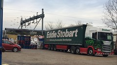 Going green for Lunch, GBRF 66779 and Eddie Stobart H5785